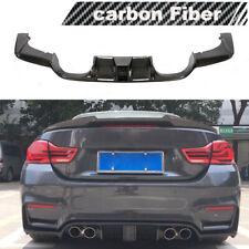 Fits BMW F80 M3 F82 F83 M4 15-19 Rear Bumper Diffuser Spoiler Lip W/Led 15-19