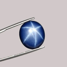10 ct Excellent SHARP 6 Rays NATURAL STAR Blue SAPPHIRE Cabochon GIL CERTIFICATE