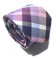 "Mens Express Neck Tie Slim Skinny Narrow Silk Blue Pink White 2.75"""