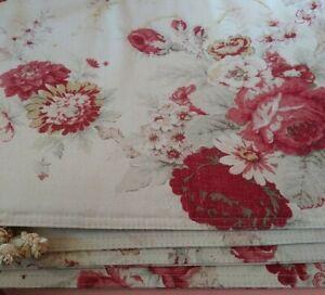 Set of 4 Vintage Waverly Garden Room Norfolk Rose  Placemats