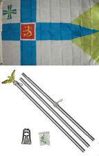 3x5 Finland Royal Flag Aluminum Pole Kit Set 3'x5'