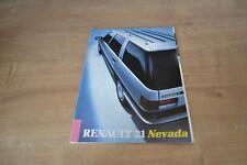 CATALOGUE Renault 21 Nevada de 1987