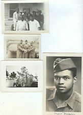 11 photos 1944-55 African American military US Army men in London Japan SOME WW2