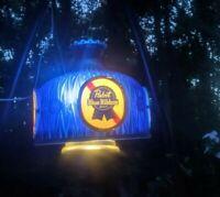 B. Vtg Pabst Blue Ribbon PBR Beer Chandelier Hanging SwagLight Bar Sign