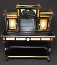 Dollhouse Miniature Hand painted Mirrored Display Cabinet by JBM