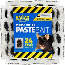 RACAN 24 x POISON PASTE BAIT SACHETS FOR FAST MOUSE CONTROL - ALPHACHLORALOSE