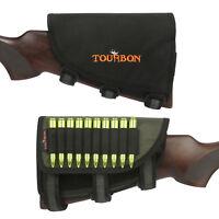Tourbon Gun Rest Pad Cheek Piece Magazine Rifle Ammo Pouch Hunting Adjustable