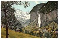 Staubbach Falls Lauterbrunnen Switzerland Postcard