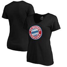 Bayern Munich Fanatics Branded Women's Official Logo V-Neck T-Shirt - Black
