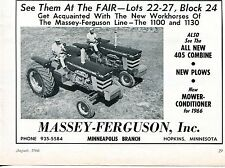 1966 Print Ad of Massey Ferguson MF 1100 & 1130 Farm Tractor