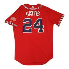 Evan Gattis Atlanta Braves Authentic On-Field Alt Red Cool Base Jersey 48