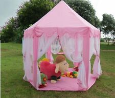 Tent Playhouse Canopy Princess Castle Kids Girls Pink Toy Play DollHouse Playhut