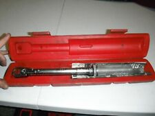 "SNAP-ON QJFR275D 3/8"" DRIVE FLEX HEAD TORQUE WRENCH With Case And Paperwork"