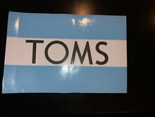 Toms sticker decal (from Toms women's/men's shoes) - New!