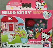 2010 Hello Kitty Mega Bloks 10820 Candy Shop 16 Pieces Play Set Retired VHTF NIP
