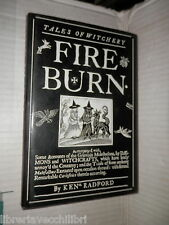 FIRE BURN Tales of Witchery Ken Radford Peter Bedrick Books 1990 storia libro di