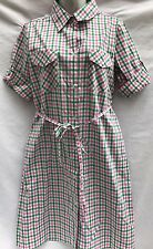Nordstrom Rosie Pope Maternity Pink Green Gingham Shirt Dress Size M New NWT