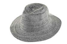 D&Y Men's Marled Knit Panama Hat Gray