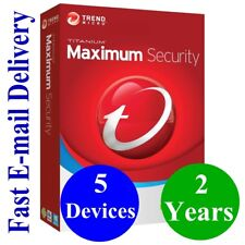 Trend  Micro Maximum Security 5 Devices / 2 Years (Unique Global Key Code) 2020