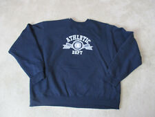 VINTAGE Champion Sweater Adult 2XL XXL Navy Blue Gray Spell Out Crewneck Mens