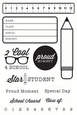 KaiserCraft Clear Stamps 2 Cool 4 School Collection - Nini's Things