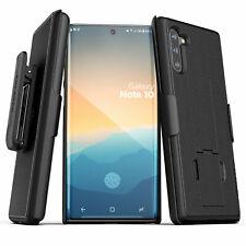 Samsung Galaxy Note 10 Belt Clip Case Slim Cover w Holster - Black