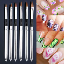 Professional Round Sable Acrylic Nail Art Brush Size 2 4 6 8 10 12 Set Pack of 6