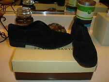 Franco Sarto Jaden Black Suede oxford  shoe Cute Nice $110 6.5 styllish