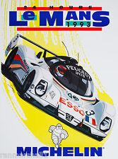 1993 - 24 Hours Le Mans France Automobile Race Car Advertisement Vintage Poster