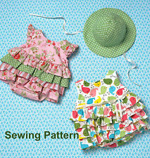 Kwik Sew K4094 PATTERN - Baby Rompers & Hat - Brand New - SML - XXL