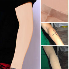 Skin Colour Forearm Tattoo Cover Up Compression Sleeves Band Concealer Support