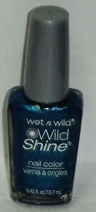 1 Wet n Wild WILD SHINE Nail Color Nail Polish BIJOU BLUE #443D