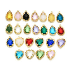 Teardrop Crystal Glass Charm Pendant Accessories For Earrings Necklace Jewelry