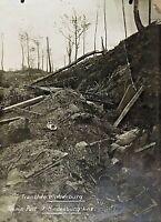 ORIGINAL LARGE - WW1 GERMAN HINDENBURG LINE TRENCH - PHOTOGRAPH - IDENTIFIED !