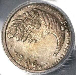 1844 PCGS AU Det Colombia 1/4 Real Bogota Nueva Granada Silver Coin (20032301C)