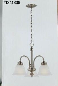 Project Source Fallsbrook 3-Light Brushed Nickel Traditional Hanging Chandelier