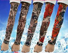 5 Pcs Fake Nylon Temporary Tattoos Sleeves Kit Arm Stockings For Cool Men  Women
