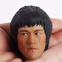Hot Toys 1/6 Scale Custom Bruce Lee Head Sculpt For 12'' Male Muscle Figure Body