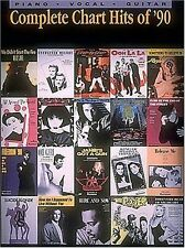 COMPLETE CHART HITS OF '90-PIANO/VOCAL/GUITAR MUSIC BOOK RARE ON SALE BRAND NEW!