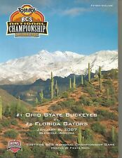 2007 Ohio State vs Florida Fiesta Bowl football program National Champions ver 1