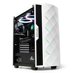 YEYIAN Caja Pc Gaming Abyss 2500 , ATX, M-ATX, Iluminación ARGB, Incluye 3 Vent.