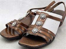 Karen Scott Women's Davis Bronze Brown Patent Wedge Heels Shoes Sandals 8.5