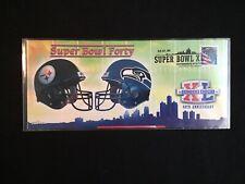 Photo File 2006 Super Bowl XL Pittsburgh Steelers Seattle Seahawks Team Envelope