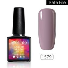 BELLE FILLE Nail Art Gel Polish Varnish UV&LED Soak off 10ml Manicure DIY #1579