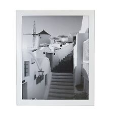 Lot of 6 pcs  16x20 White Picture Frame, 1-1/4-Inch Wide with Real Glass