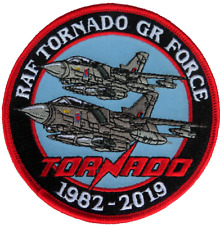 Royal Air Force RAF Panavia Tornado GR Force 1982 to 2019 MOD Embroidered Patch