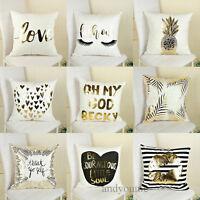 """18"""" Linen Cotton Vintage Throw Pillow Case Cushion Cover Home Sofa Car Decor Hot"""