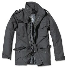 Brandit - M65 Standard Field Jacket Black, Parka US Style Jacket With Lining
