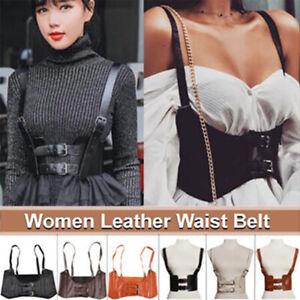 Women Autumn Waist Belt Vest Style Corset Wide Cincher with Buckle Cummerbunds
