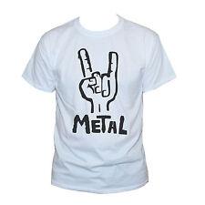 HEAVY METAL FUNNY T SHIRT- Black Sabbath Iron Maiden Metallica Printed Top